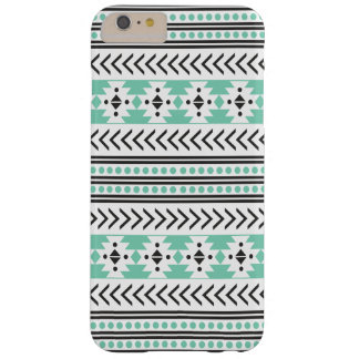 Trendy Aztec Tribal Print Geometric Pattern Green Barely There iPhone 6 Plus Case