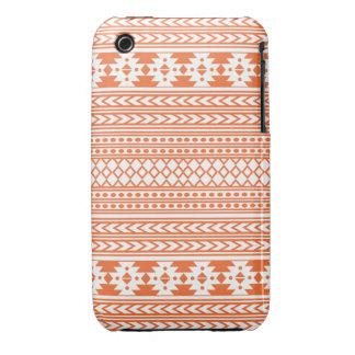 Trendy Aztec Tribal Print Geometric Pattern Orange iPhone 3 Case-Mate Cases
