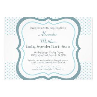 Trendy Baby Dedication Christening Invitation