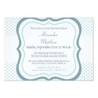 "Trendy Baby Dedication Christening Invitation 5"" X 7"" Invitation Card"