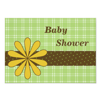 Trendy Baby Shower Invitation Card - Boy or Girl
