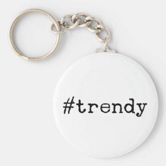 Trendy Basic Round Button Key Ring