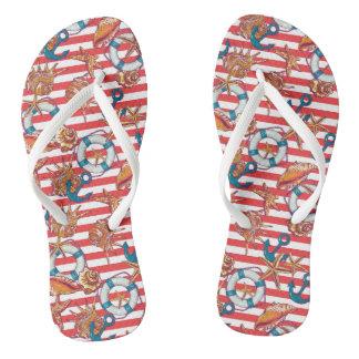 Trendy Beach Pattern Flip Flops
