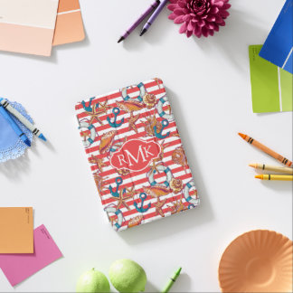 Trendy Beach Pattern | Monogram iPad Mini Cover