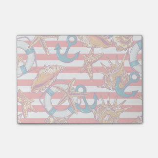 Trendy Beach Pattern Post-it® Notes