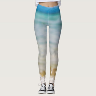 Trendy Beach put-went Leggings