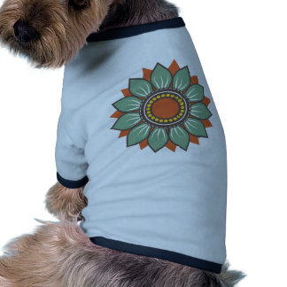 Trendy Beautiful Floral Decor Ringer Dog Shirt