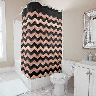 Chevron Pattern Shower Curtains