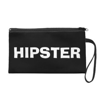 trendy black and white hipster wristlet purse