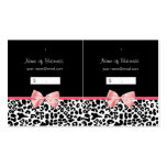 Trendy Black And White Leopard Pink Hang Tag Business Card