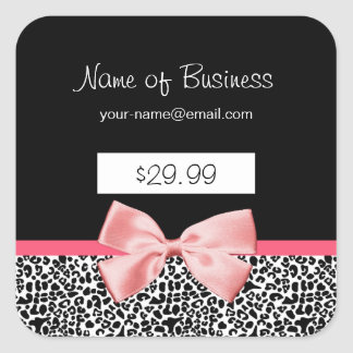 Trendy Black And White Leopard Print Price Tags