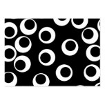 Trendy black and white retro design. large business cards (Pack of 100)