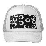 Trendy black and white retro design. Custom Mesh Hat