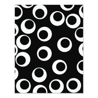 Trendy black and white retro design. Custom Personalized Announcement