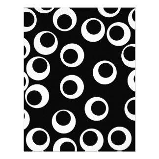 Trendy black and white retro design Custom Custom Invites