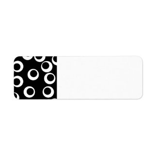 Trendy black and white retro design. Custom Return Address Label