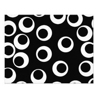 Trendy black and white retro design custom announcement