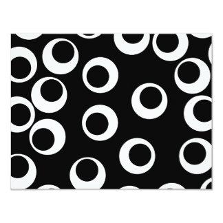 Trendy black and white retro design. custom announcement