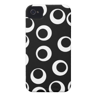 Trendy black and white retro design. iPhone 4 covers