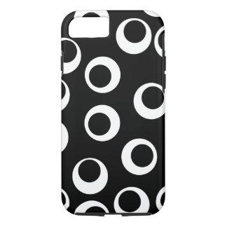 Trendy black and white retro design. iPhone 7 case