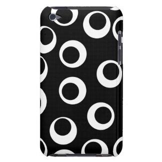 Trendy black and white retro design. iPod touch Case-Mate case