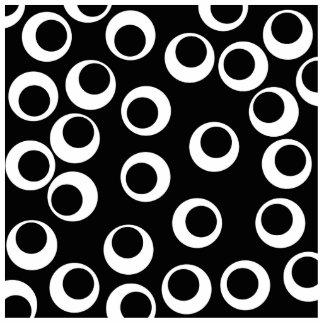 Trendy black and white retro design. photo sculpture magnet
