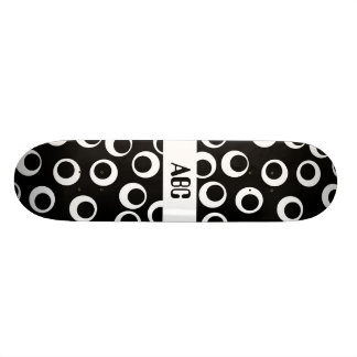 Trendy black and white retro design. skateboard