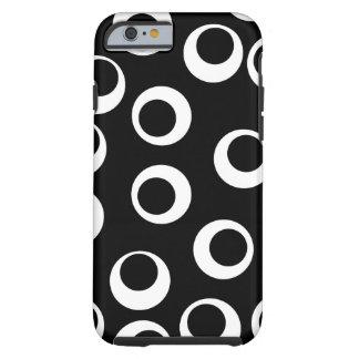 Trendy black and white retro design. tough iPhone 6 case