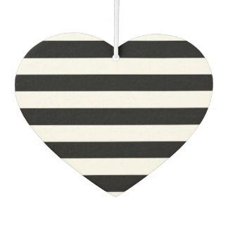Trendy Black and White Wide Horizontal Stripes
