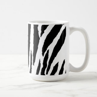 Trendy Black And White Zebra Pattern Basic White Mug