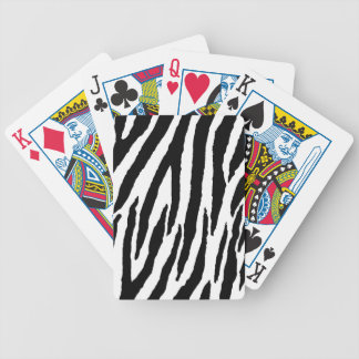 Trendy Black And White Zebra Pattern Bicycle Playing Cards