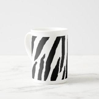 Trendy Black And White Zebra Pattern Bone China Mug