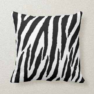 Trendy Black And White Zebra Pattern Cushion