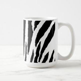 Trendy Black And White Zebra Pattern Mugs