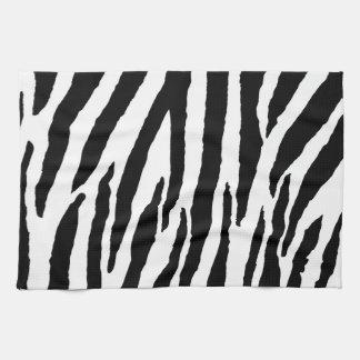 Trendy Black And White Zebra Pattern Tea Towel