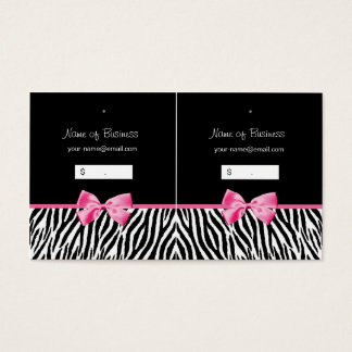 Trendy Black And White Zebra Print Hang Tag