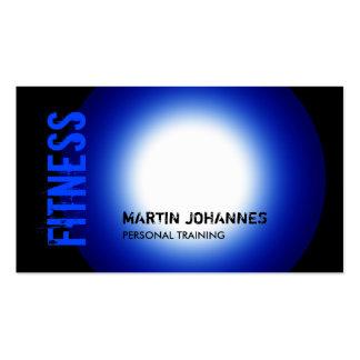 Trendy Black Blue White Light Business Card