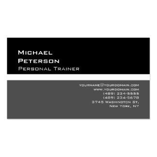 Trendy Black Grey Fitness Sport Business Card