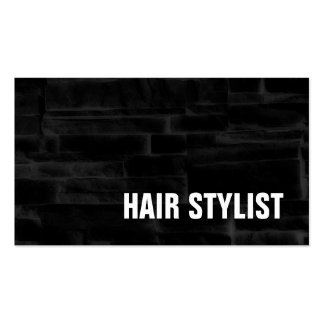 Trendy Black Grey Wall Bricks Modern Hair Stylist Pack Of Standard Business Cards
