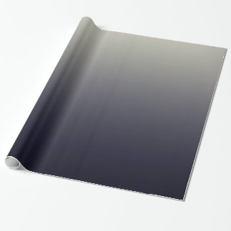Trendy Black Ombre Gradient Wrapping Paper
