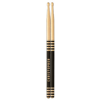 Trendy Black Stripes Custom Name A01