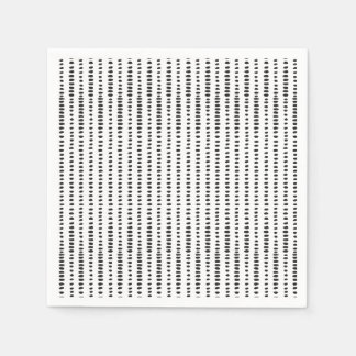 Trendy Black & White Abstract Pattern Paper Napkin