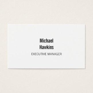 Trendy Black White Contemporary Executive Manager