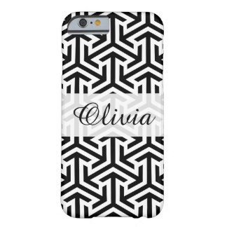 Trendy Black & White Pattern iPhone 6/6s Case Barely There iPhone 6 Case