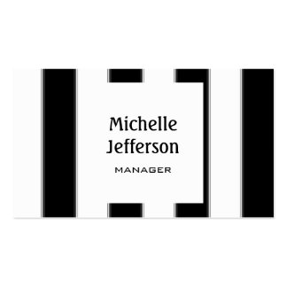 Trendy Black White Pattern Manager Business Card
