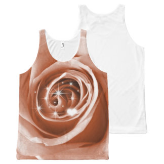 trendy bling on rose,soft peach (I) All-Over Print Tank Top