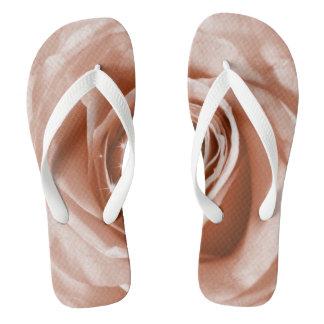 trendy bling on rose,soft peach (I) Flip Flops