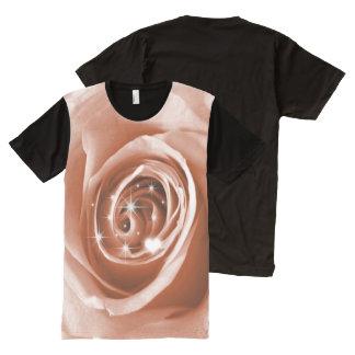 trendy bling on rose,soft peach (I) All-Over Print T-Shirt
