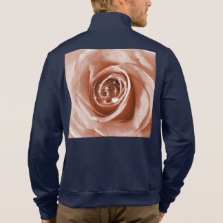 trendy bling on rose,soft peach (I) Printed Jacket