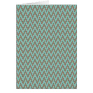 Trendy Blue and Gray Chevron Stripes Zig Zags Greeting Card